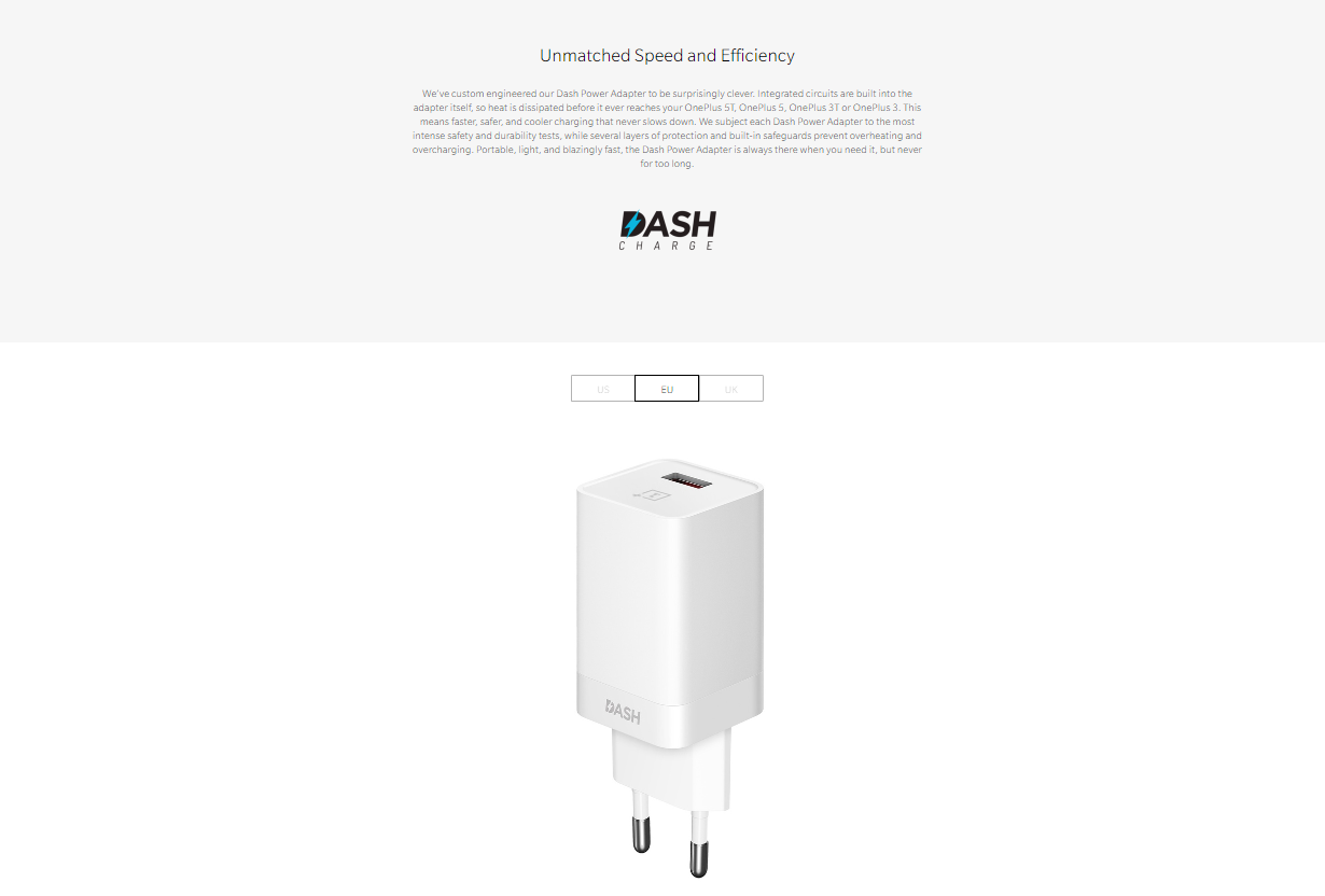 OnePlus Dash Power Adapter