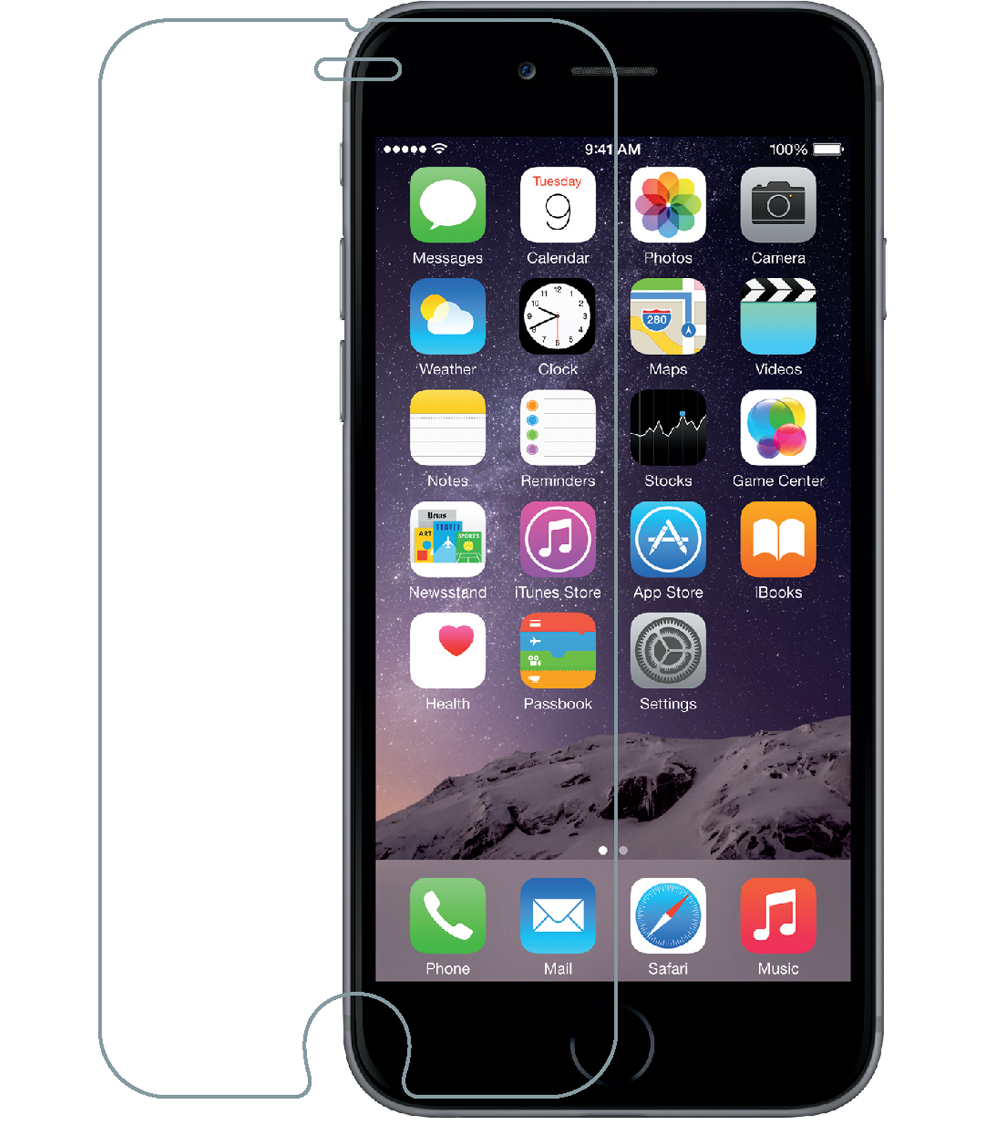 Apple iPhone 6S Plus Tempered Glass Screen Protector
