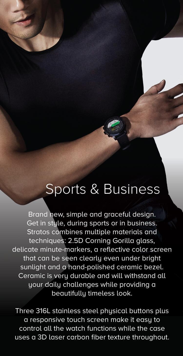 Mi Amazfit Stratos Multisport GPS Smartwatch