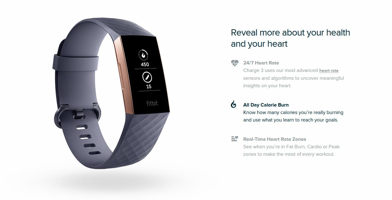 Fitbit Charge 3™ Advanced Fitness Tracker