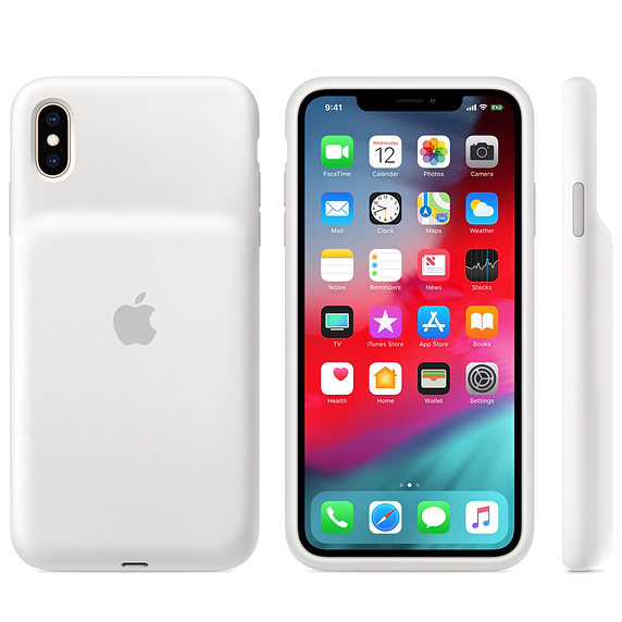 iPhone XS Max Smart Battery Case – White