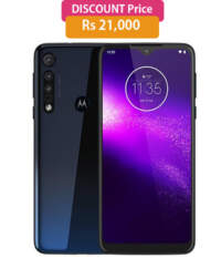 Motorola One Macro (Space Blue 64GB + 4GB)  1 Year Warranty