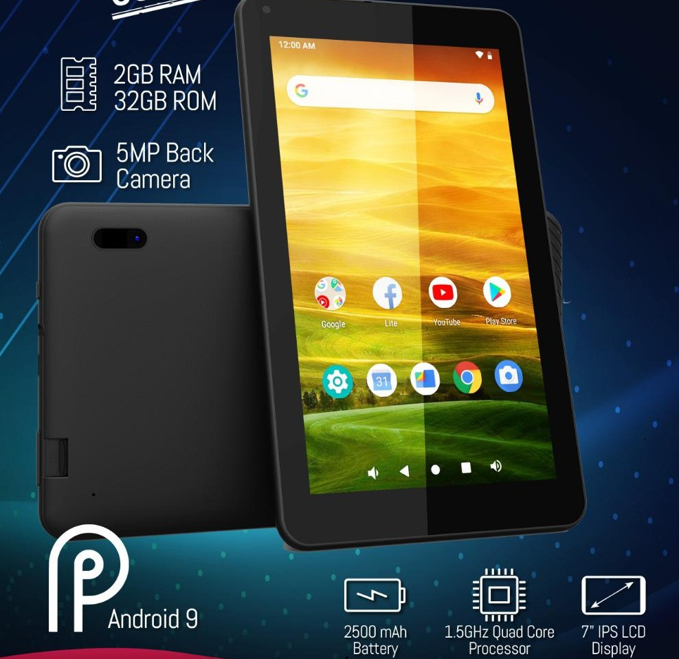 Q Tab V5 Plus (Black 32GB + 2GB)