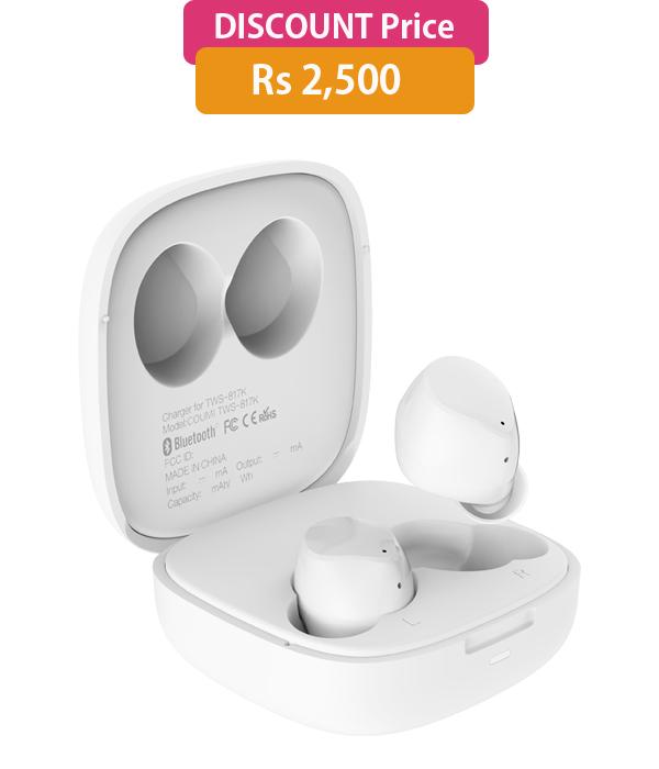 TECNO Hi Pods H2  Wireless Bluetooth Headset (White)