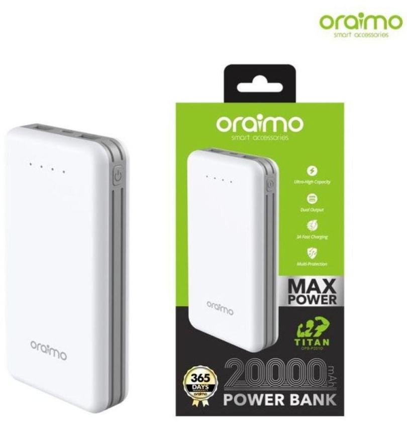 Oraimo Traveler 2 (OPB-P203D) 20000mAH Power Bank