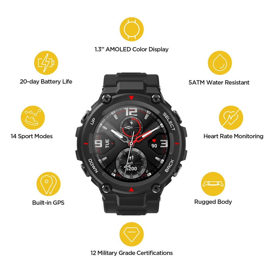 Amazfit T-Rex Smartwatch RockBlack
