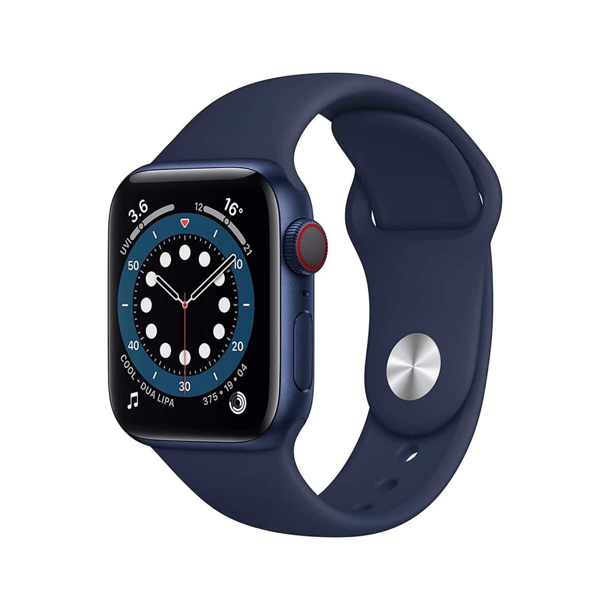 Apple Watch Series 6 Aluminum 44MM BLUE Aluminum Case with Deep Navy Sport Band