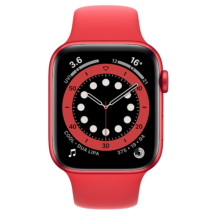 Apple Watch Series 6 Aluminum 44MM RED Aluminum Case with RED Sport Band