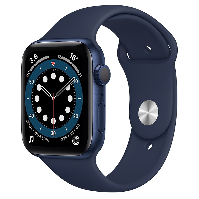 Apple Watch Series 6 Aluminum 44MM BLUE Aluminum Case with Deep Navy Sport Band
