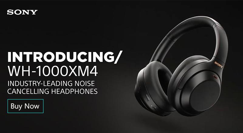 Sony WH-1000XM4 Wireless Noise Cancelling Headphones 800x440